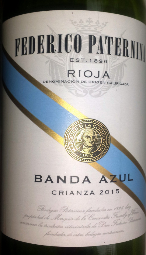 Federico Paternina Banda Azul 2015 Weinweinwein